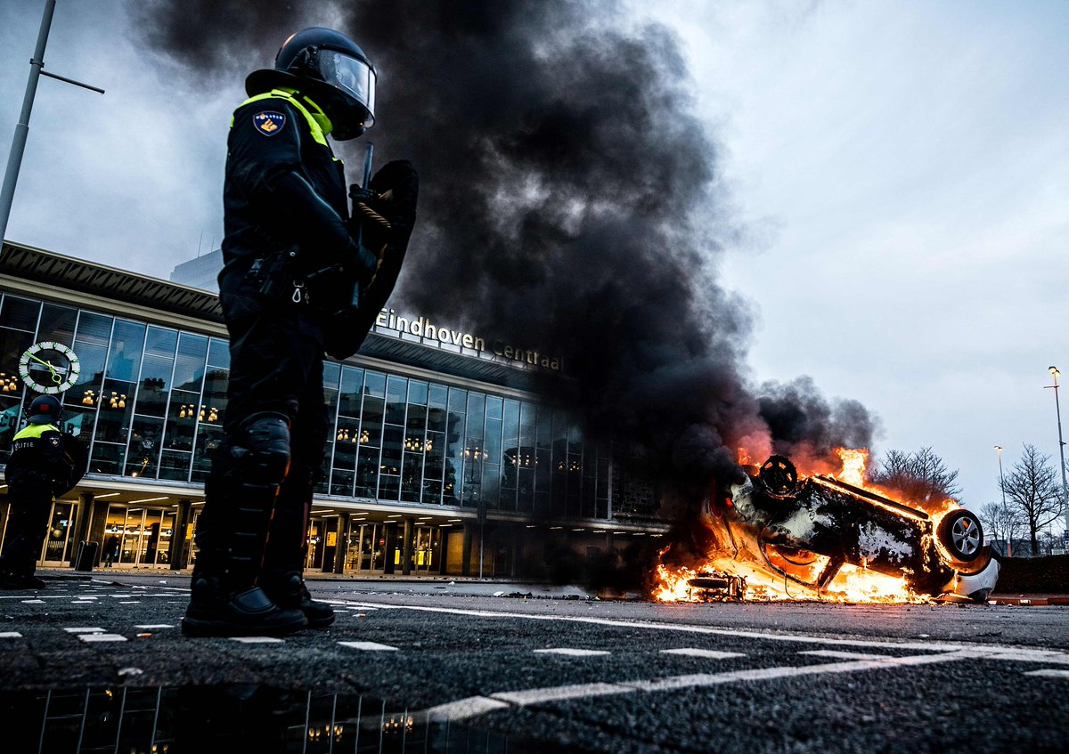At least 240 arrested during Dutch anti-lockdown protests.