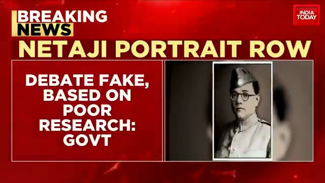 Netaji Potrait Row |  Govt refutes TMC allegation, says Netaji photo unveiled by President based on original photo. (@manogyaloiwal ) #ITVideo
