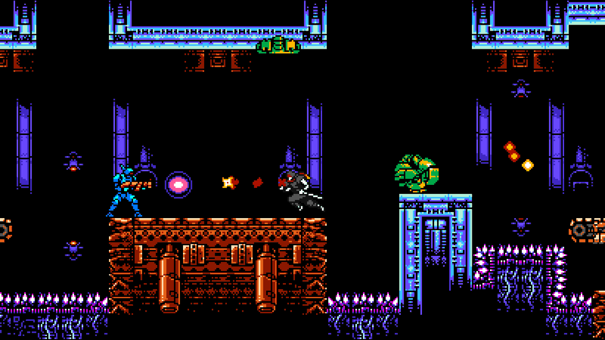 """Cyber Shadow"" by @MekaSkull and @YachtClubGames coming out tomorrow! Make sure to follow the instructions to pre-order the game for a 25% Discount! #indiedev #gamedev #indiegames #videogames #games #action #platformer #pixelart #scifi #ninja #CyberShadow"