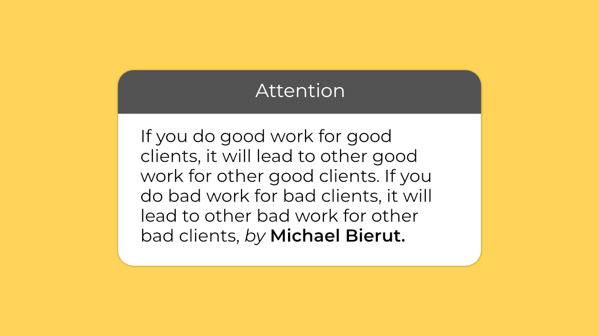 Good work leads to good clients 🙏  #MotivationalQuotes #inspirational #Motivation #quotes #quoteoftheday #motivationalwords #branddesign #mondaymotivation #success #inspiration #coaching #marketing #leadership #goals #brandquotes #brandingquotes #logoinspiration #mondaythoughts