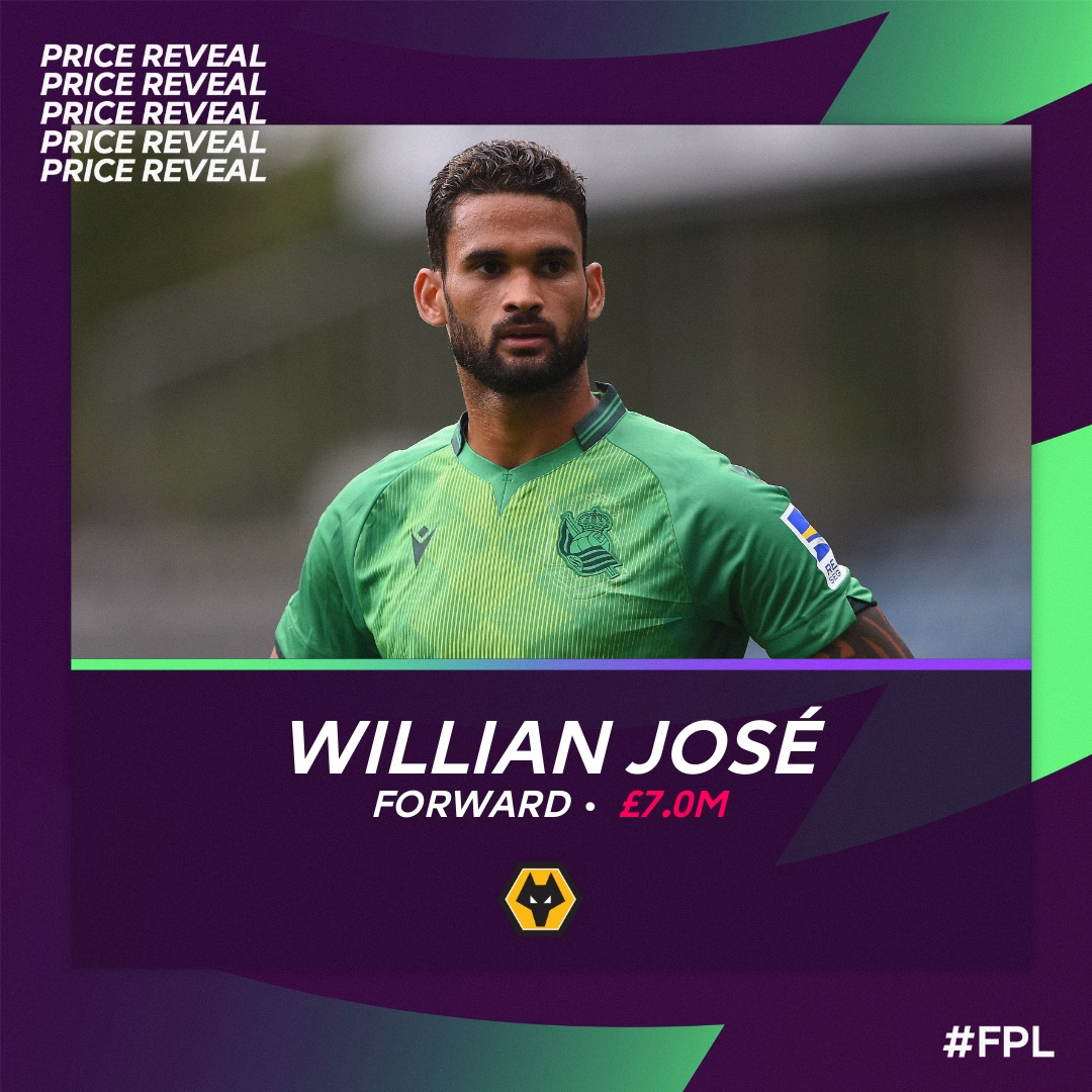 Replying to @Wolves: Looking for some extra @OfficialFPL firepower?  🔁 @willianjose19  💰 👔