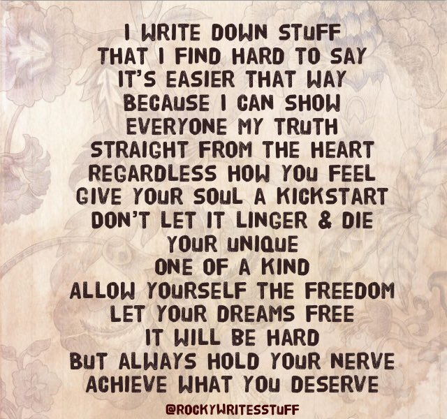 #rockywritesstuff #ukwriter #MondayThoughts #writingcommmunity #MondayMotivation #mondaymorning #Poems #poetry #poetrycommunity #writerscommunity #writers #writerslife #creativewriter #creative #anxiety #depression #poet #Mentalhealth #inspiration