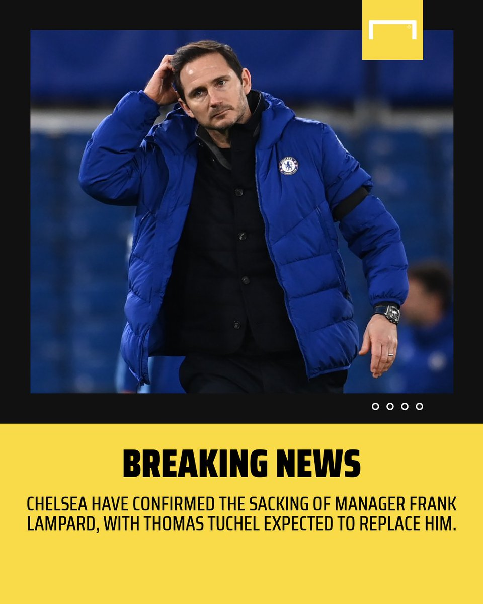 Replying to @goal: OFFICIAL: Chelsea have sacked Frank Lampard 👋