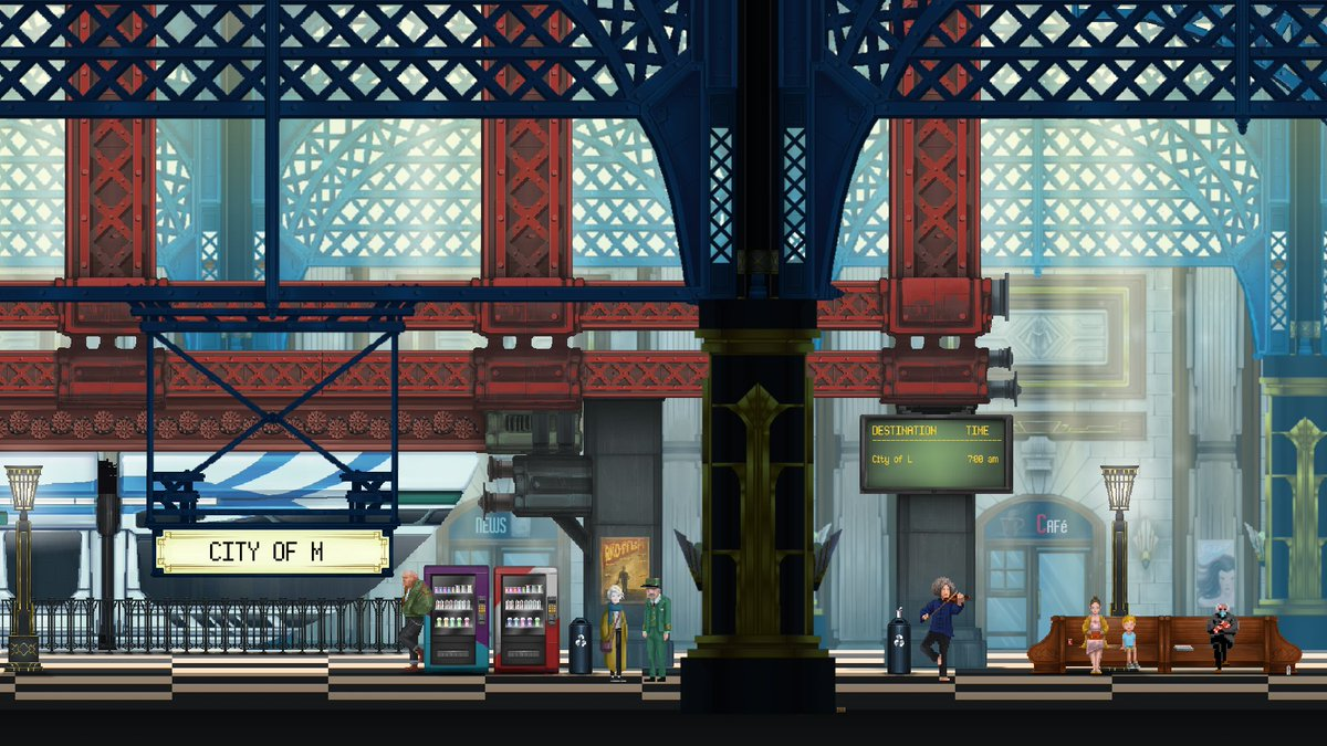 Sorry... we couldn't resist! 😂 It's very small, but can you spot #BernieSanders at the station? 🪑  #BernieMeme #MonorailStories #indiegame #indiedev #meme (Thanks to @IceFallGames for the sprite)