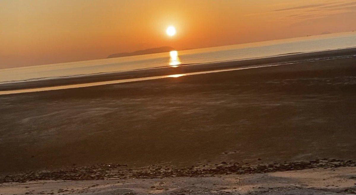 最新動画UPです💖 是非ご覧ください☺️ #癒し #犬 #ペット #海 #夕日 #sunset