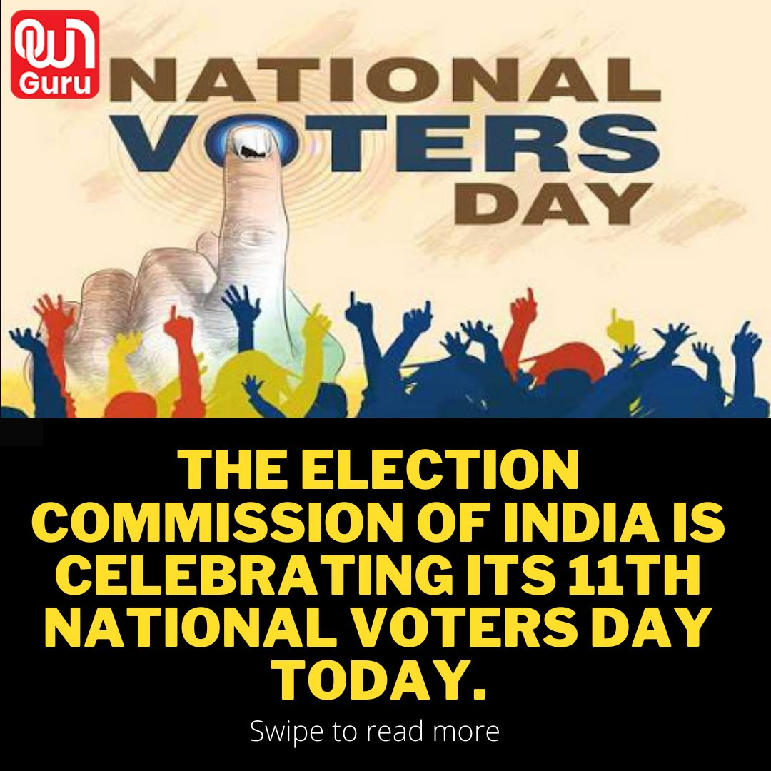 📌Don't forget to follow us on Instagram @officialownguru  📌Also, visit our website @  #nationalvotersday #ownguru #nationalvoterregistrationday #vote #votingforchange #nationalvoter #indian #votematters #comisson #voter
