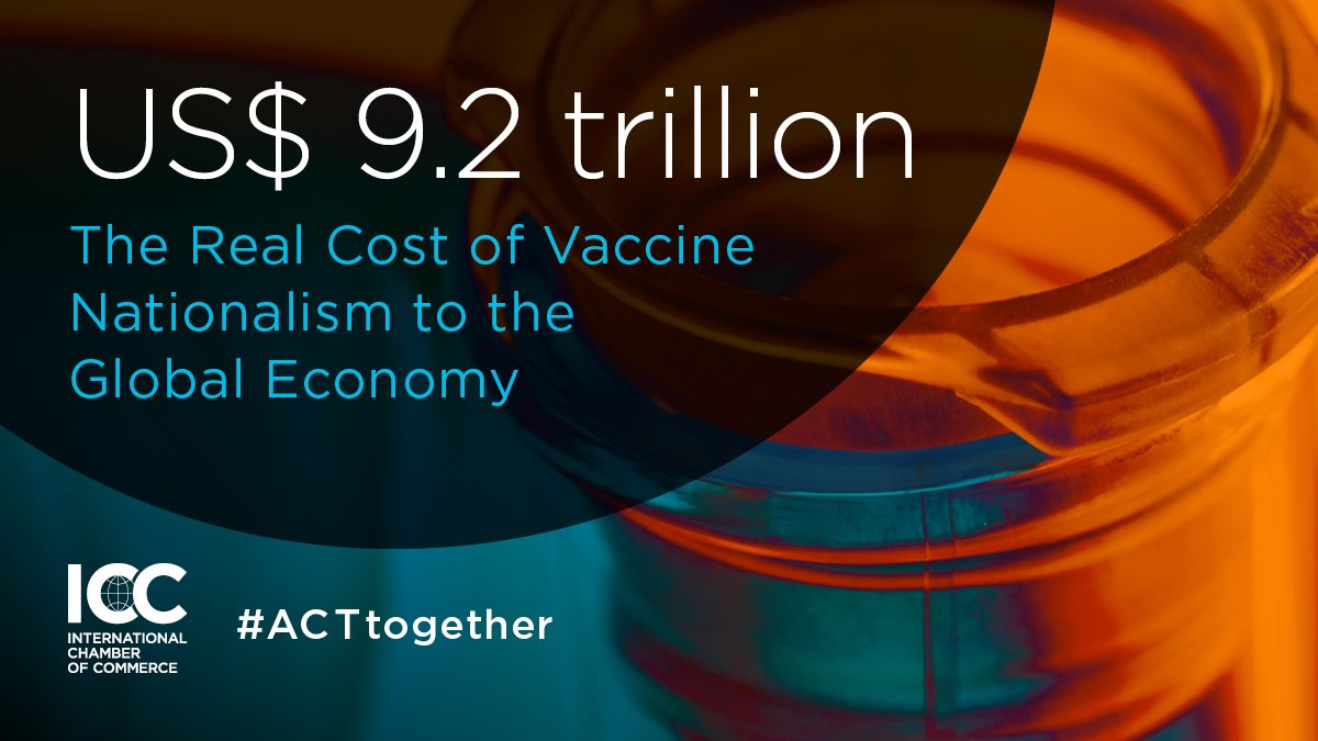 NEW ICC STUDY: If rich countries self-prioritise Covid vaccines, it's not only a catastrophic moral failure, it's an economic one.  Act now, #ACTtogether.   Read our study which reveals truth in the numbers. 🔗
