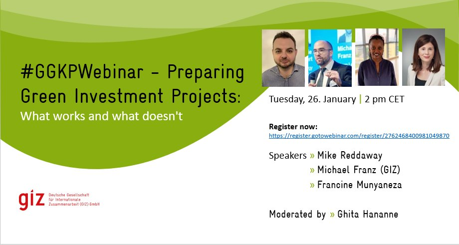 Are you interested in Green Investment? Join the #GGKPWebinar to learn more about key strategies, pitfalls and lessons learned. Sharing his knowledge as one of the speakers - our investment expert Michael Franz. 🗓️ 26 Jan🕑14:00 Register Now!
