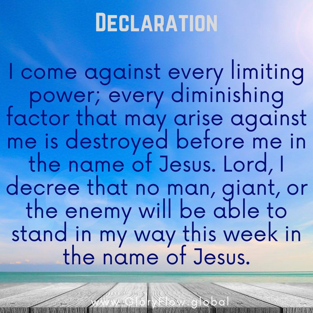 Declare with us! #MondayMotivation #MondayThoughts #MondayVibe #Prayer #Revival #Faith #Strength #GloryFlowMovement #GloryFlow #DeniseWilliams