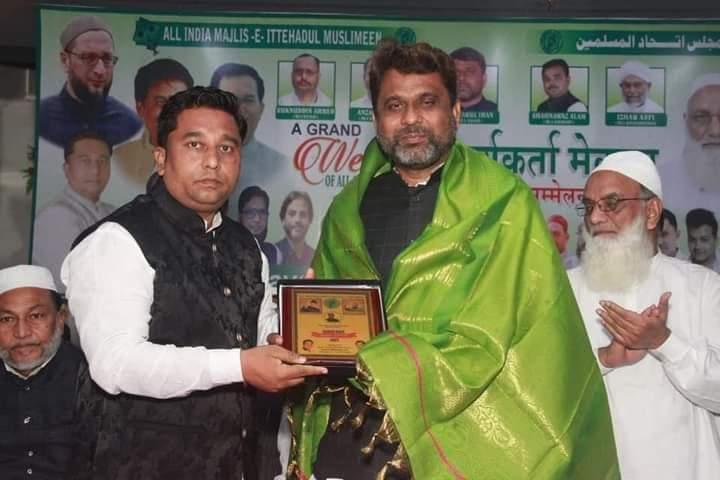 #AIMIM Bihar MLA's Or AIMIM Mumbai President #FaiyazAhmedKhan Ne #Dharavi Me Rakhe Gaye Welcome Programme Me Shirkat Ki.  @asadowaisi @Akhtaruliman5 @FaiyazAhmed1961 @RizwanaKhanMIM