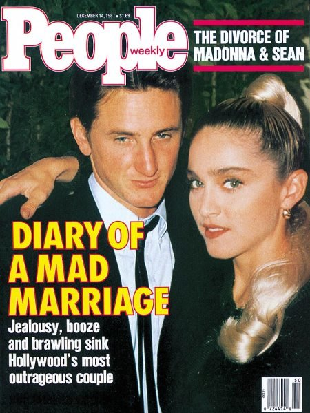 Jan 25, 1989: Madonna filed for divorce from Sean Penn after 3 1/2 years of marriage. #80s Cited irreconcilable differences and the divorce wasnt granted until September 14th.