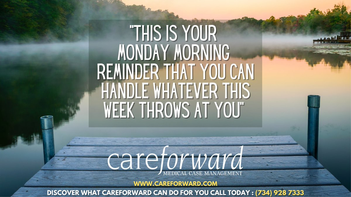 "It's Monday Morning  and a reason to begin a new week in a positive light.  ""Your Monday morning thoughts set the tone for your whole week. See yourself getting stronger, and living a fulfilling, happier & healthier life.""  #casemanagement #casemanager #mondaymorning #nurselife"