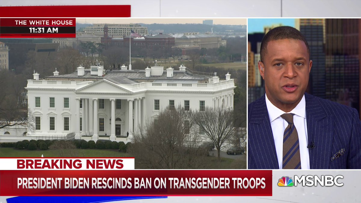BREAKING: President Biden signs executive order repealing Trump-era ban on transgender people serving openly in the military. https://t.co/K1MCkgpKmj