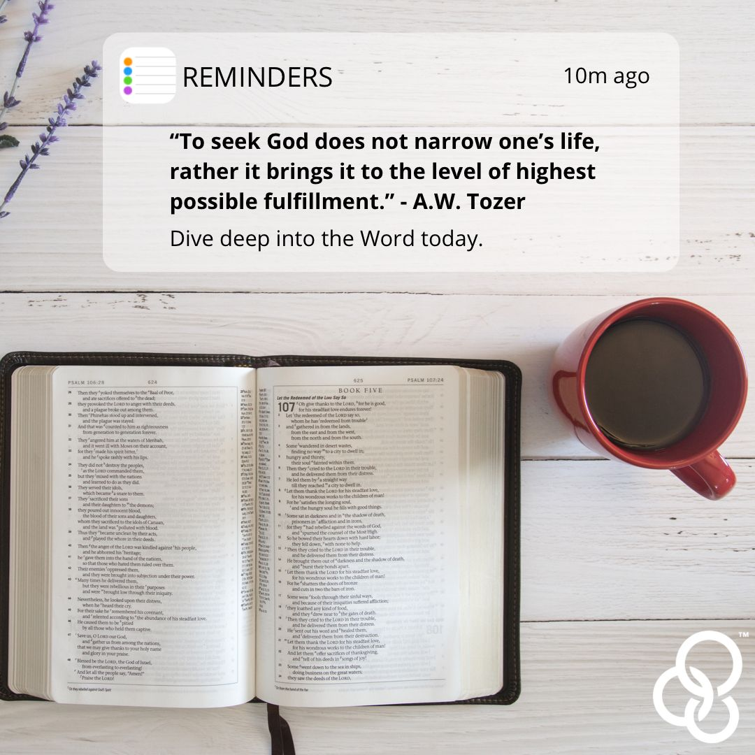 Today's #MondayMotivation is simple: Seek God. Read His Word. 🙏🏼📖