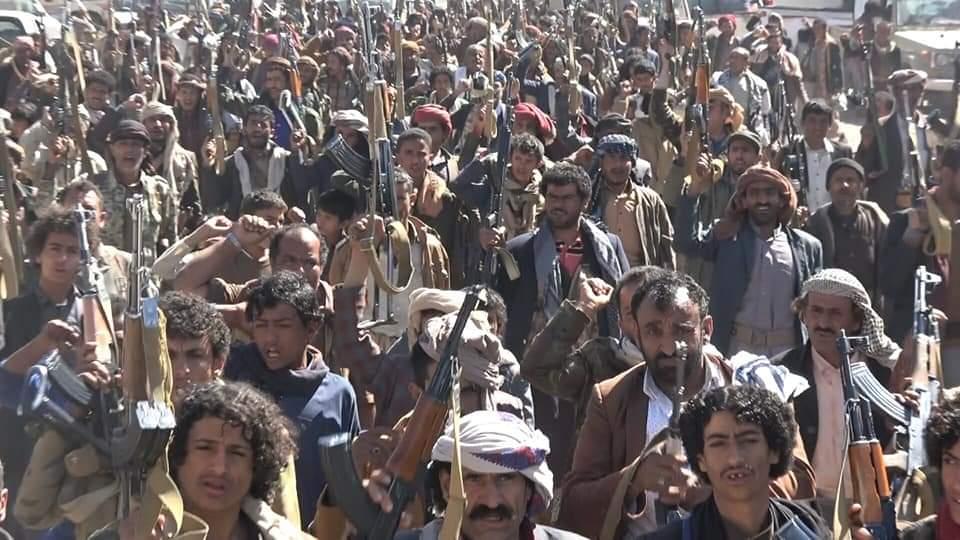 صورة من مسيرة (العدوان والحصار الأمريكي جرائم إرهابية) من محافظة #مأرب   #DayofAction4Yemen
