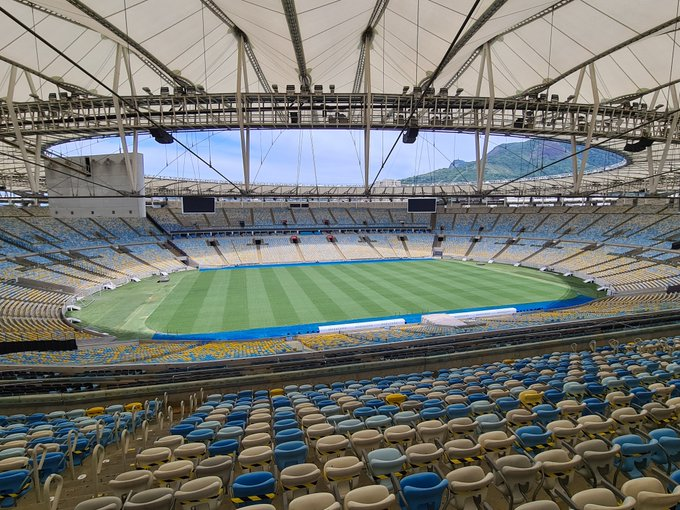 🇧🇷🏟️ The @maracana sits ready for the 2020 #Libertadores Final! We're just days away from #Palmeiras 🆚 #SantosFC...