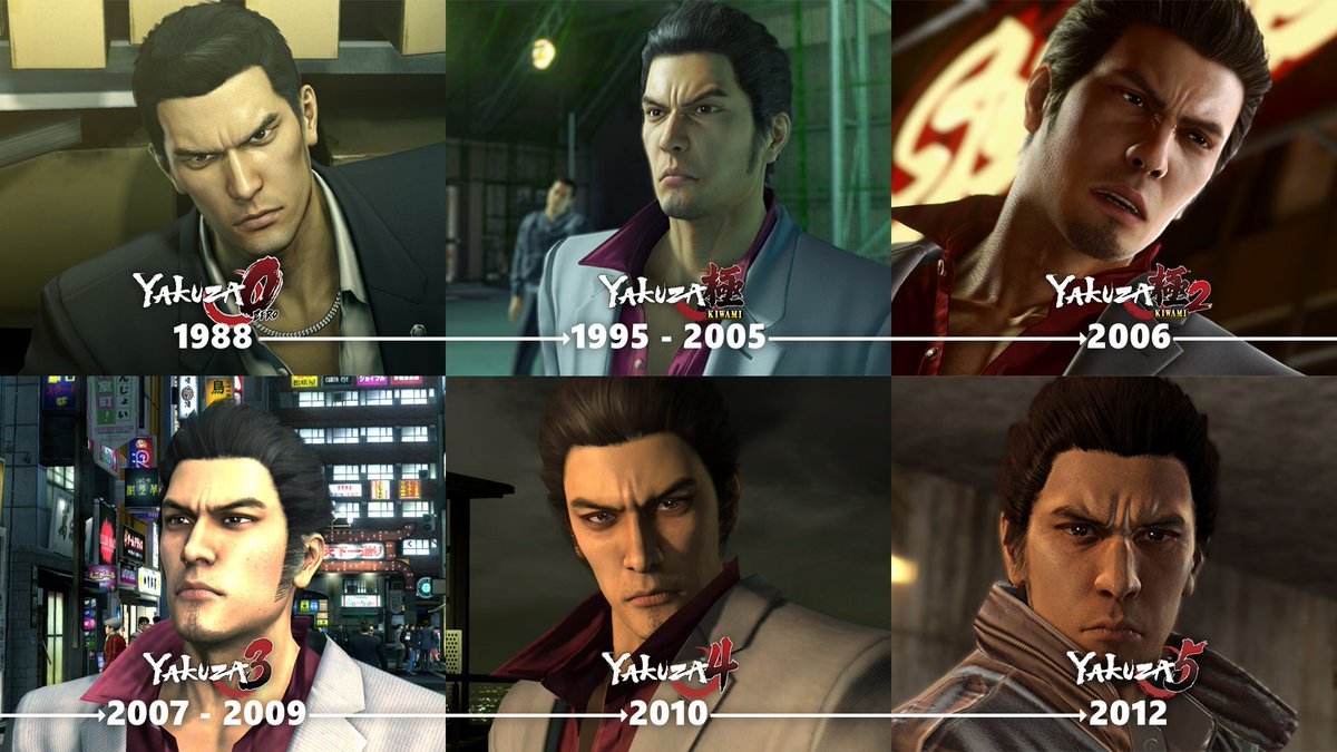 With 3 more Yakuza titles coming in 3 days, we'd just like to point out that Kazuma Kiryu simply does not age