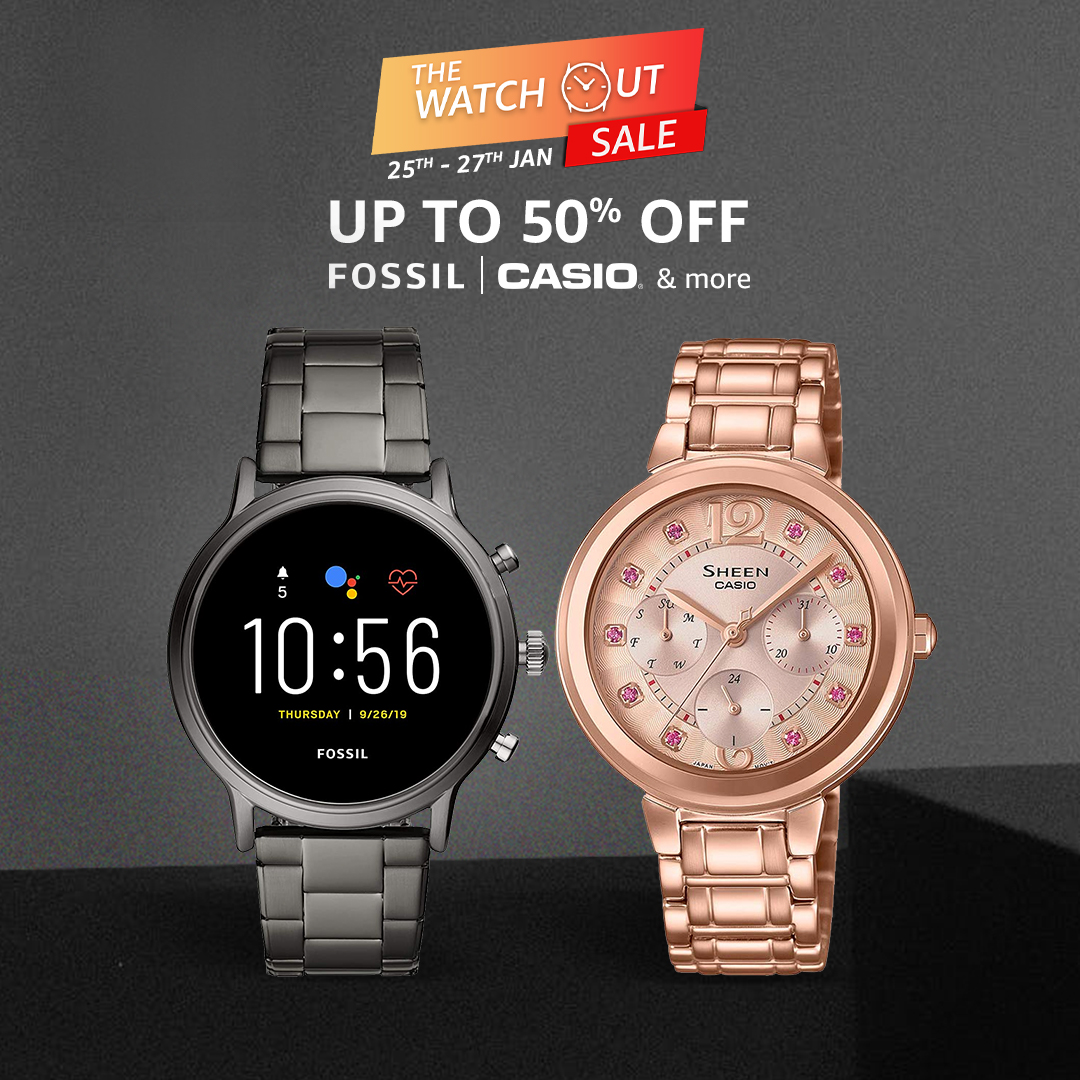 Style up your wrists with the latest, most stylish timepieces from leading brands! Shop now & get them at up to 50% off only during the #WatchOutSale on #AmazonFashion:   #Watches #WristWatch #SmartWatch #Sale #Discount #AmazonFashion #HarPalFashionable