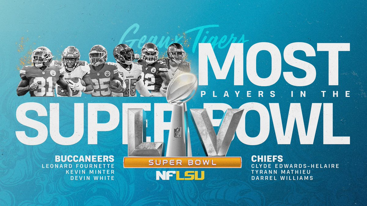 Replying to @LSUfootball: Six Tigers will play in #SBLV  This is NFLSU 🔗