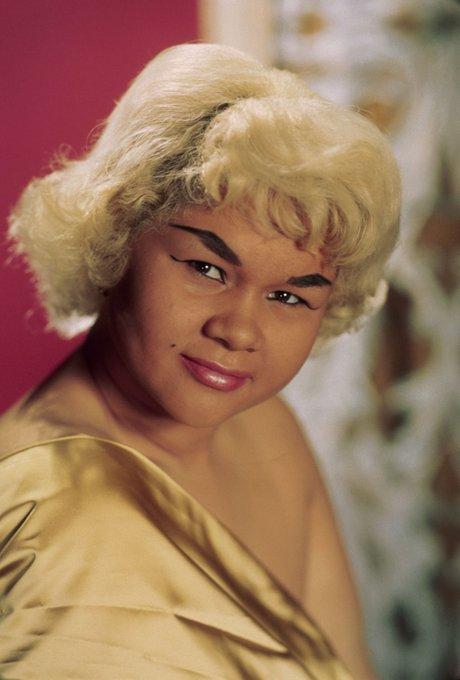"Happy bDay Etta James, singer of legendary hit \""At Last\"""