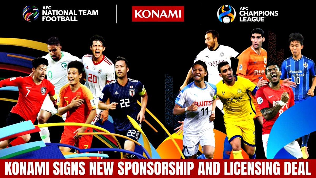@theafcdotcom y @Konami firman para los próximos 4⃣ años un nuevo acuerdo de patrocinio global y derechos de licencia para las competiciones de clubes y equipos nacionales de la #AFC.✍️📄⚽️🎮  #WST #KONAMI麻雀格闘倶楽部 #videojuegos #sponsorship   👉👀
