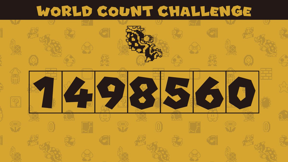 We've hit the midway point in the first #SuperMarioBros35 World Count Challenge!   As of 1/20, players have defeated 1,498,560 Bowsers!   Keep it up, and all participating players defeating at least one Bowser will receive 350 My Nintendo Platinum Points!
