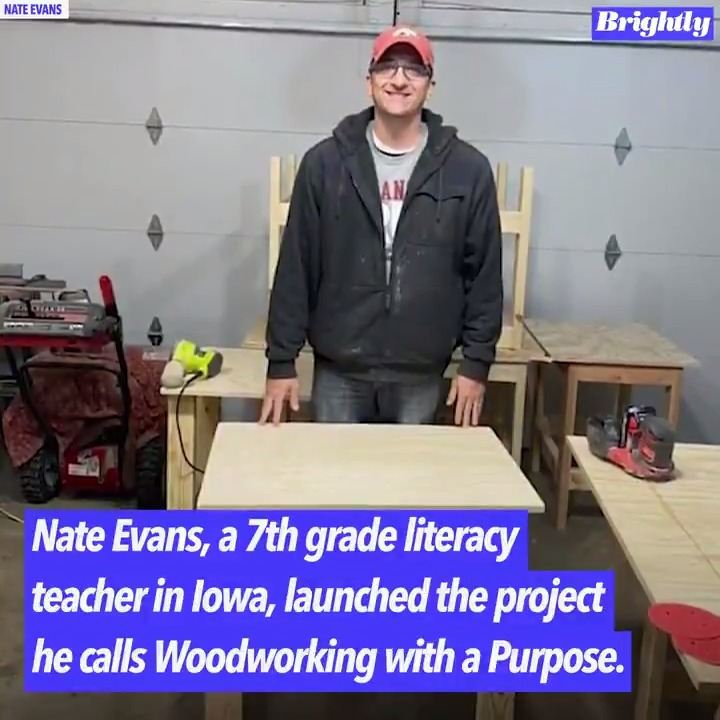 Teacher is building thousands of desks after seeing kids don't have work spaces at home!
