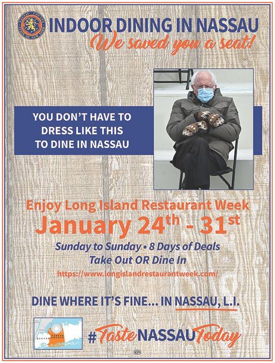 Come dine where it's fine in Nassau County! No mittens necessary.