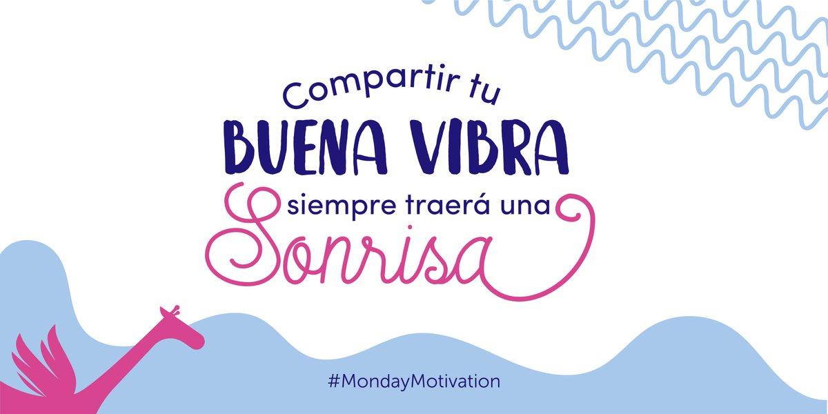 Compartir tu buena vibra siempre traerá una sonrisa. #MondayMotivation
