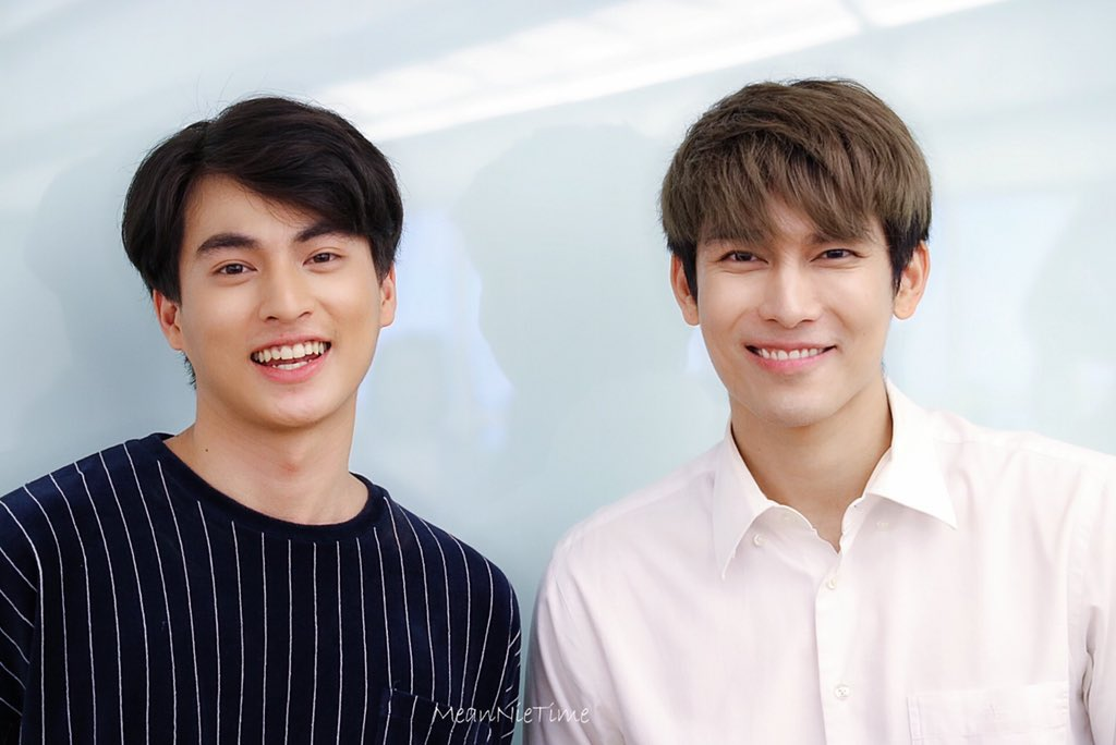 """But fate knew something that we didn't"" ☀️🌻  It has been two years since the first time you met each other and you have already come a long way. Happy 2 years and let's stay together for a long time 💖 @MSuppasit @gulfkanawut   #MewGulf2Years2gether  #หวานใจมิวกลัฟ #MewGulf"