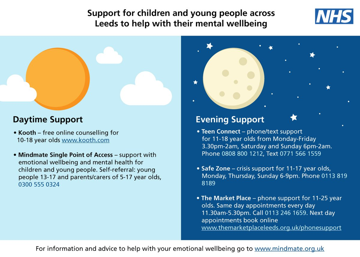 Whether its daytime or evening, theres always mental health support available for young people in Leeds 🤝 For information and advice to help with your emotional wellbeing, visit mindmate.org.uk. @bishopyoungce @abgacademy
