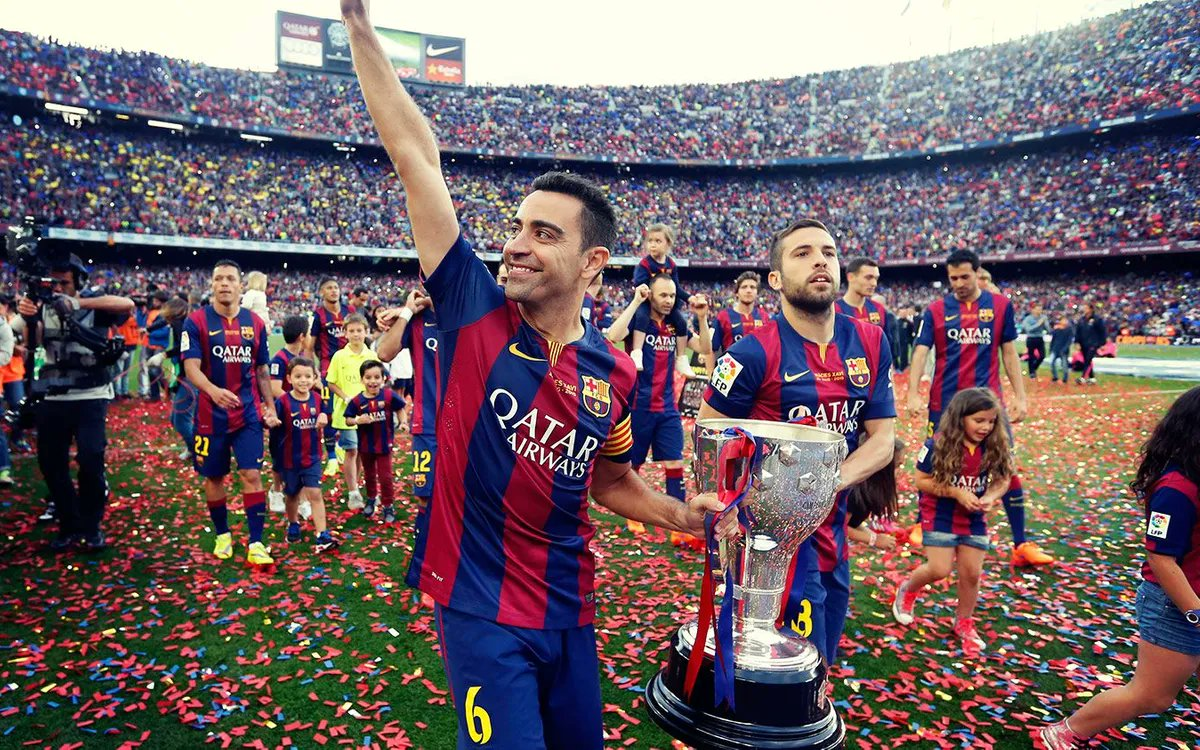 One of the greats of the game, Xavi Hernandez's farewell at Camp Nou was one of the most emotional goodbyes in football in recent history.  Take a look at the top 10 farewells in football  👉  #LaLiga #LaLigaSantander #UCL #ChampionsLeague