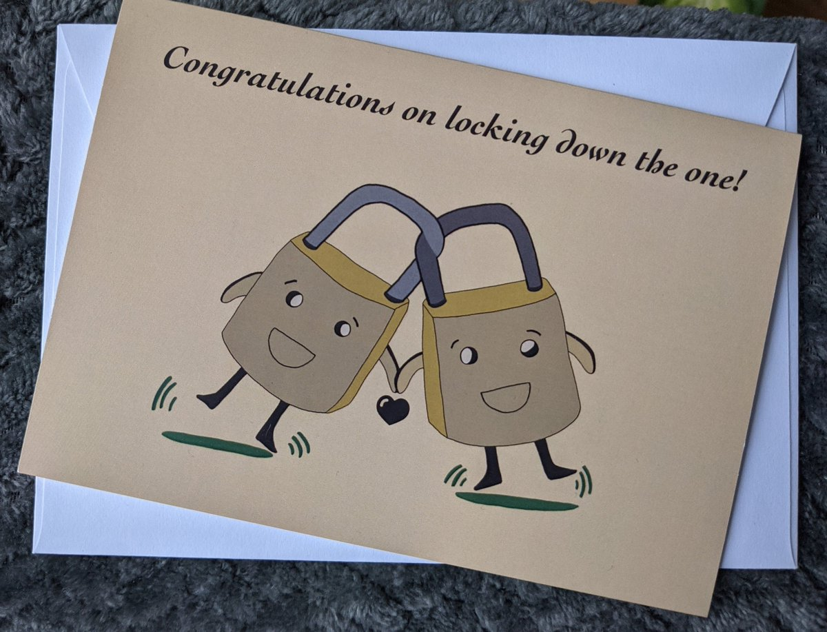 Excited to share the latest addition to my #etsy shop: Congratulations On Locking Down The One, Lockdown Engagement and Wedding Greeting Card  #engagement #yellow #wedding #lockdown #comedycard #weddingcard #engagementcard #engagementcardcute #we