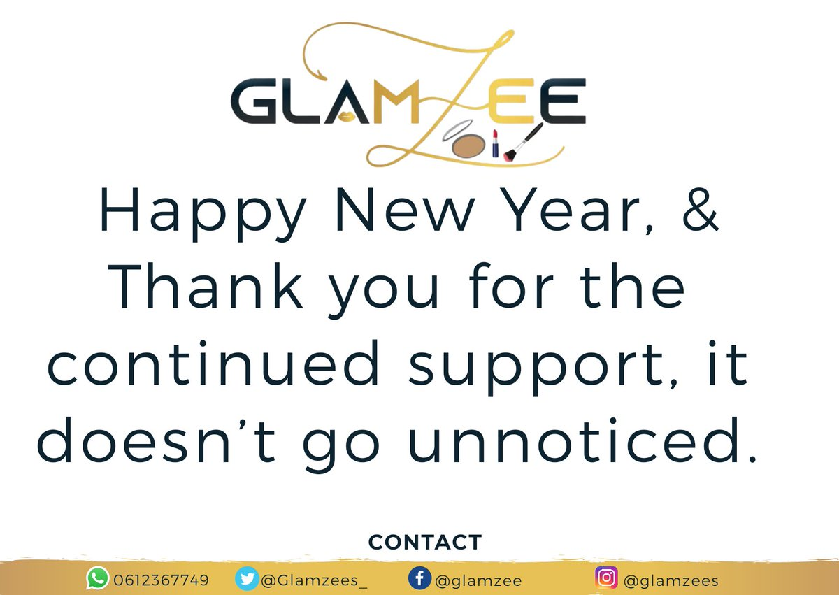 Happy New Year, & Thank you for the continued support, it doesn't go unnoticed.  #glamzee #happymonday #backinbusiness #GirlsTalkZA  #mondaythoughts