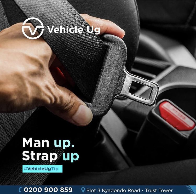 #VehicleUGTip #RoadSafetyTips   A sit belt goes a long way in saving your life incase of an accident! Man up! Strap up!   Take responsibility!   #VehicleUG #StrapUp #BeSafeOnTheRoad #MondayThoughts