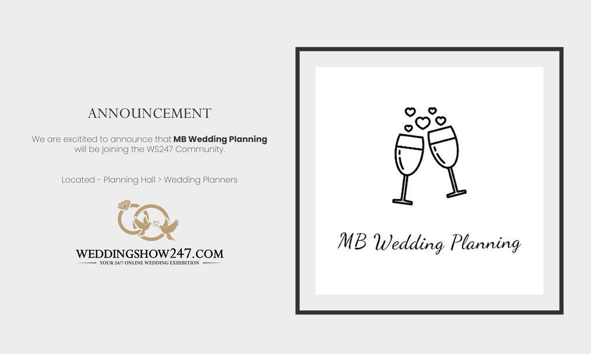 We are pleased to announce that @MBWeddings will be joining the #WeddingShow247 #community very soon.  #Wedding #WS247