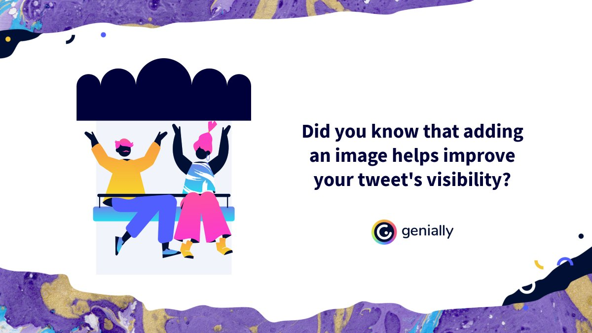 🗨 Did you know that adding an image helps improve your tweet's visibility? Create your designs in Genially and download them as a JPG.  #TwitterTips #CommunityManager #CommunityManagerAppreciationDay #Twitter #tips