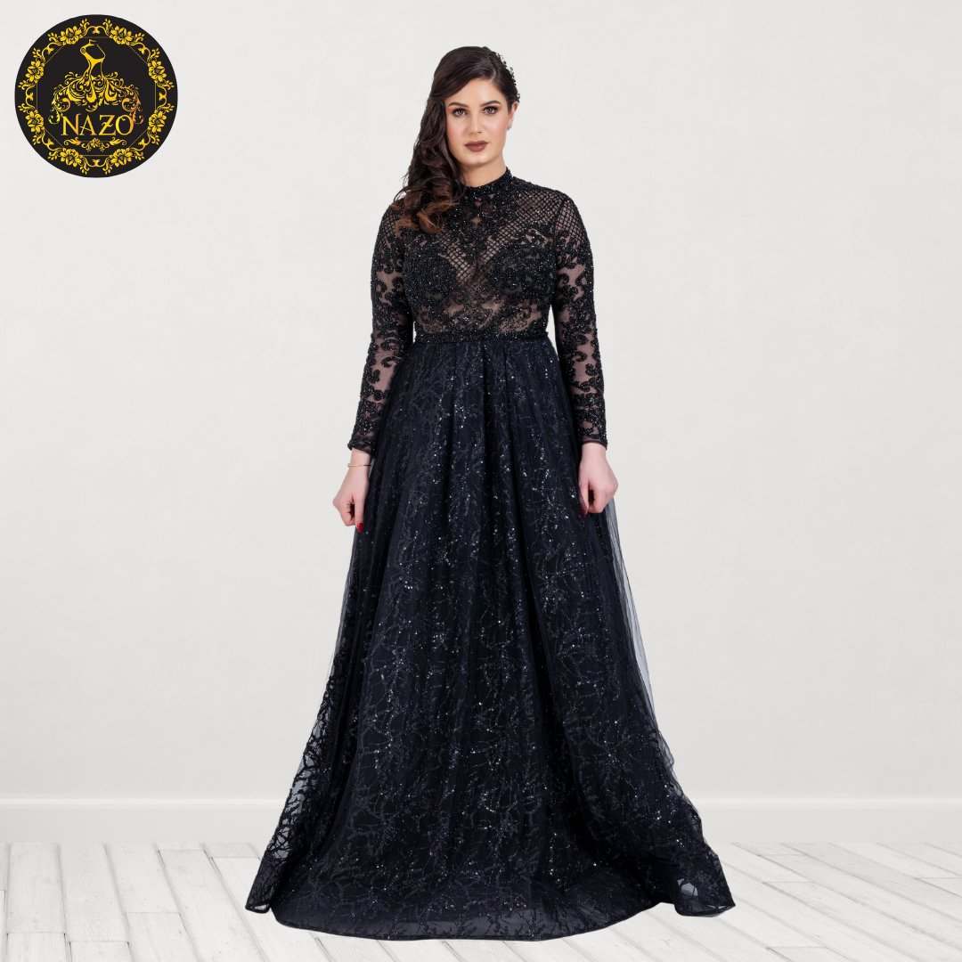 """You can wear black at any time. You can wear it at any age. You may wear it for almost any occasion."" —  Christian Dior  #Black #BlackDress #BlackGown #BeautifulDress  #BeautifulGown #GorgeousGown #Dubai #UAE"