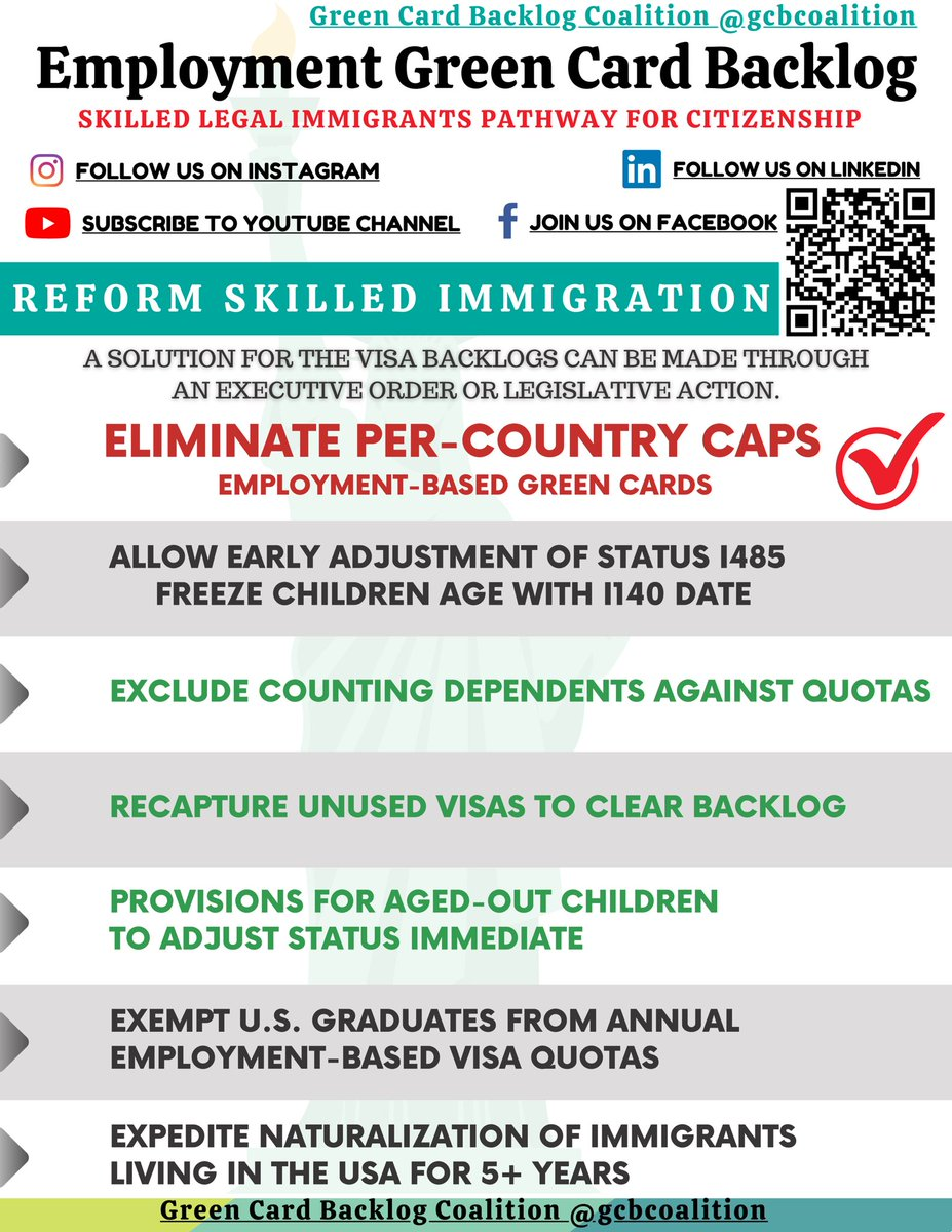 #MuslimBan of high-skilled born in India continues; they're banned from becoming permanent residence and citizen, despite having advanced skills.  Mr. @POTUS and Madam. @VP, Birthplace based employment immigration must end. #RemoveCountryCaps @PressSec @ossoff #mondaythoughts