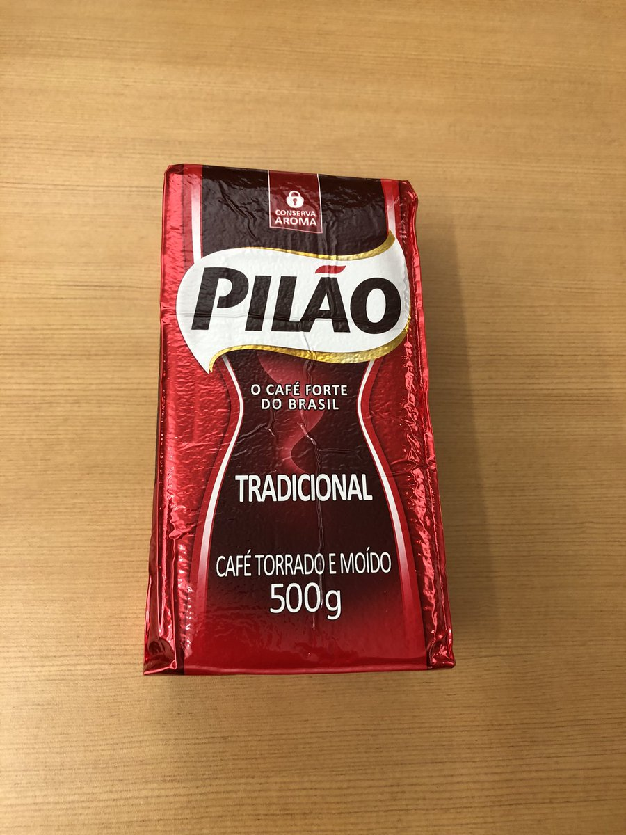 My work colleague just returned from Brazil and there was a brick of coffee waiting for me at my desk.  🇧🇷 ☕️ #MondayMorning