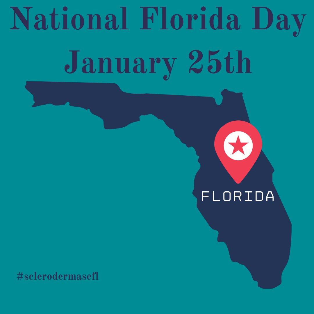 Did you know it's National Florida Day?  #nationalfloridaday #florida #sunshinestate #mondayvibes #goodmorning #sclerodermasefl #scleroderma #autoimmunedisease #chronicillness #systemicsclerosis #sclerodermawarrior #chronicpain #spoonie #sclerodermaawareness #southeastflorida