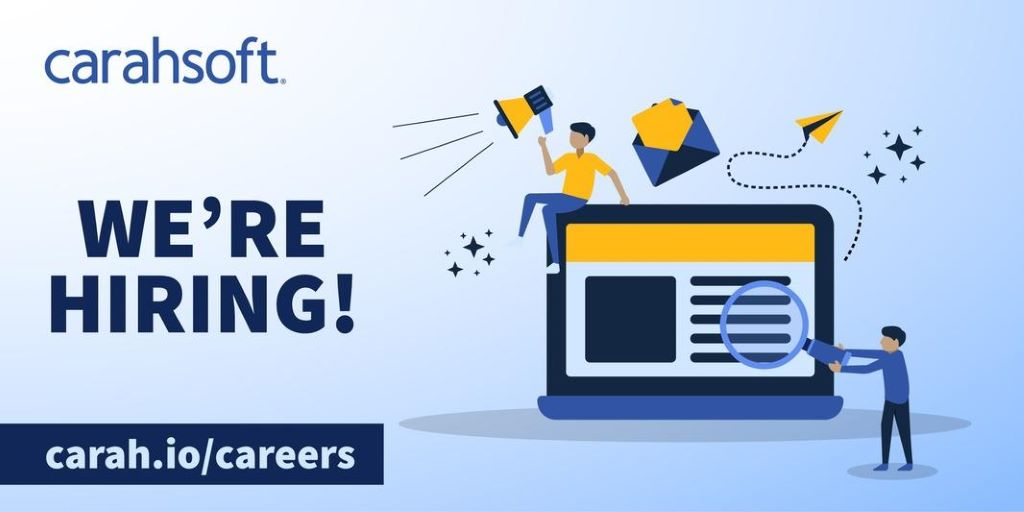 Was one of your resolutions to find a new career in the #NewYear? @Carahsoft has excellent job opportunities – message us to chat about our open positions, or apply online: