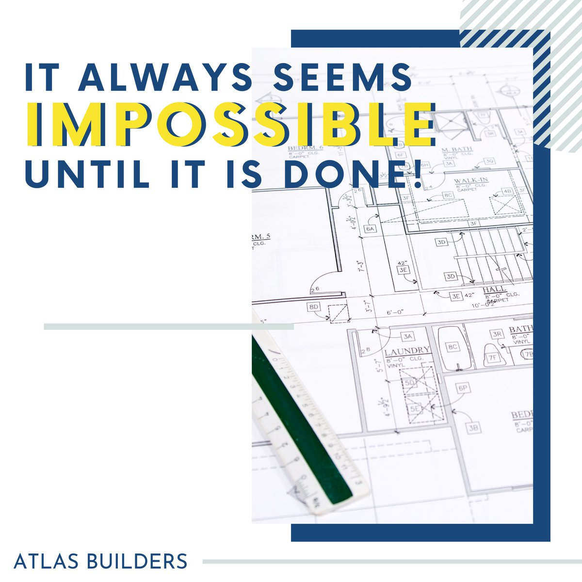 It always seems impossible until it is done! . . . .  #MotivationalMonday #MondayMotivation #MondayMotivator #MotivationalQuote #MondayMorning