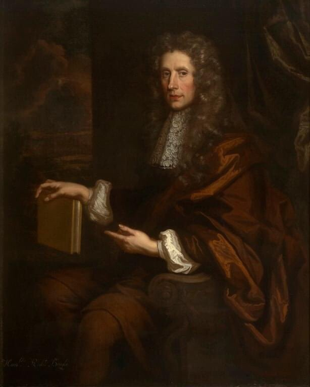 Born #OnThisDay in 1627 was Robert Boyle FRS, one of the founders of the Royal Society and regarded as one of the first modern chemists. He is known for Boyle's Law, which describes the the inversely proportional relationship between the pressure and volume of a gas.