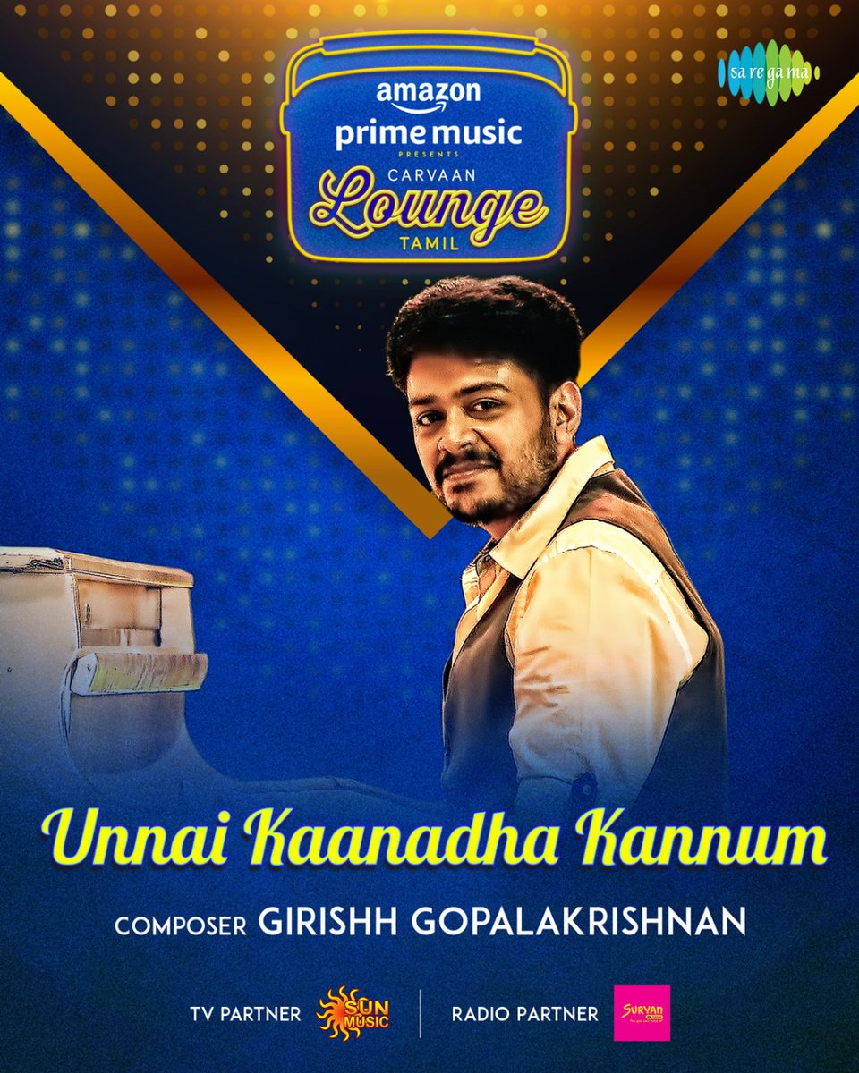Welcoming the most talented @ggirishh for #CarvaanLoungeTamil 5th track #UnnaiKaanadhaKannum   Stay tuned for more updates!   #FirstOn @AmazonMusicIN #CarvaanLoungeOnAmazonMusic