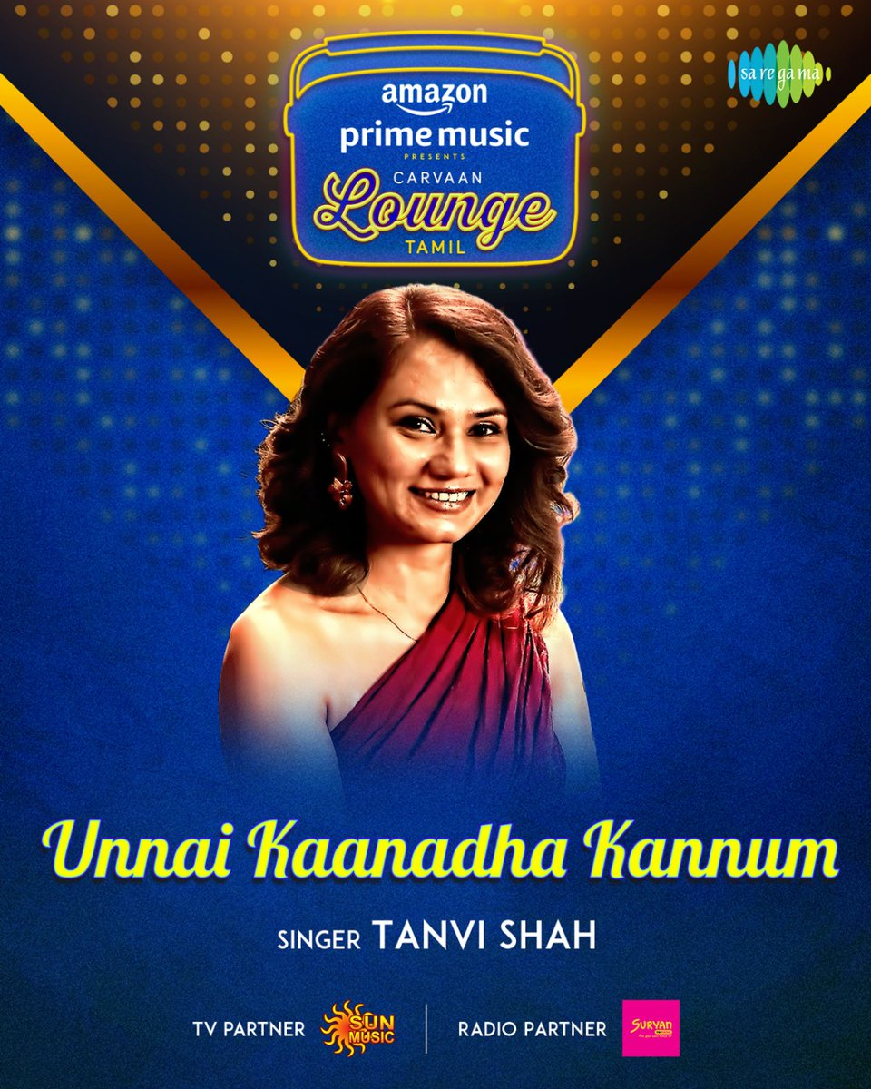 We are thrilled to have Grammy winner @Tanvisha for #CarvaanLoungeTamil 5th song #UnnaiKaanadhaKannum   Stay tuned for more updates!   #FirstOn @AmazonMusicIN #CarvaanLoungeOnAmazonMusic