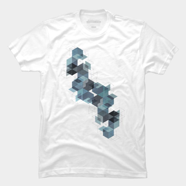 Cube Architecture @designbyhumans by @Boby_Berto  #cube #architecture #abstract #shapes #illustration #tshirt #tshirts #tshirtdesign