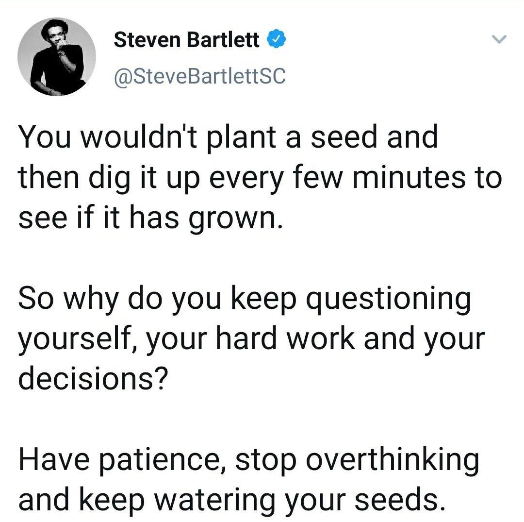 Well said... Trust the Process. Happy Monday! #MondayVibes #BePatient #MotivatedByGG 💯