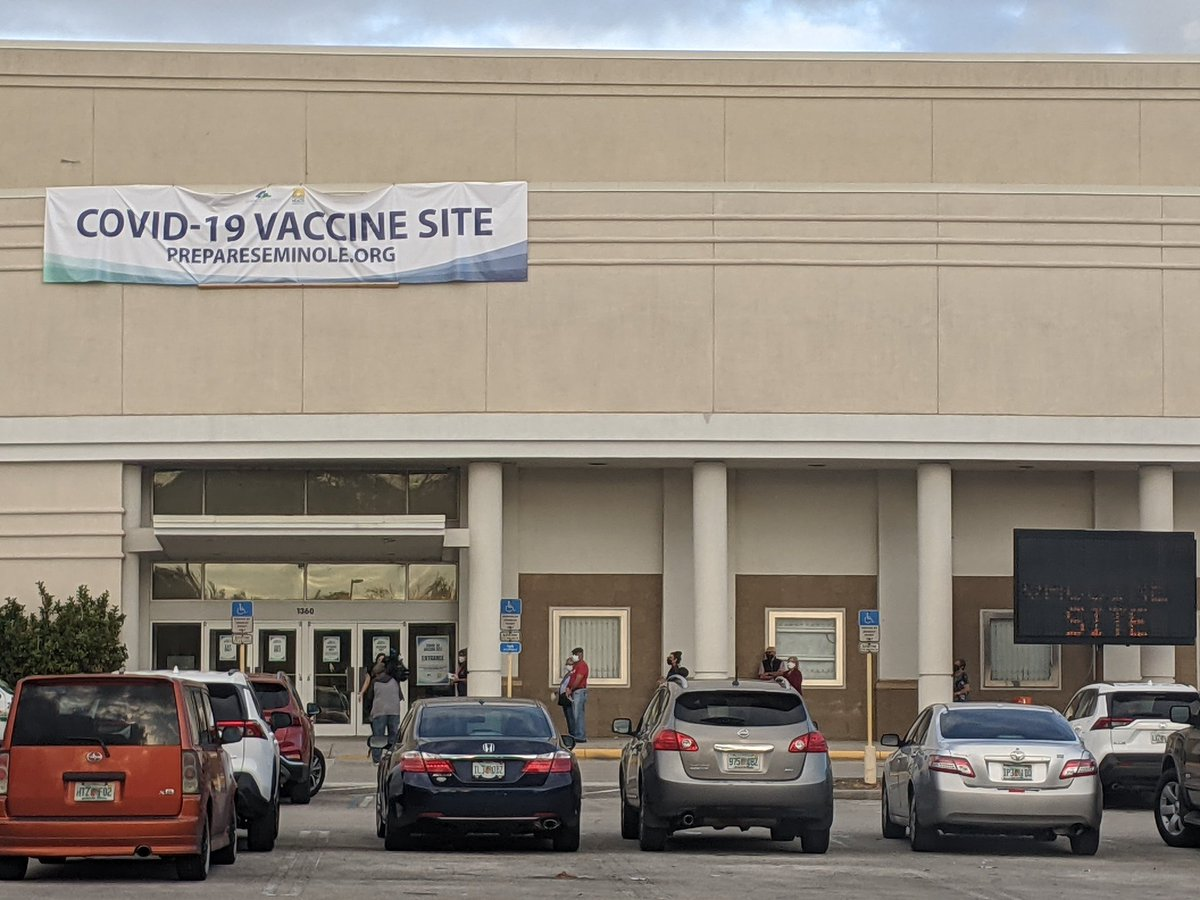 Seminole County residents are getting their second dose of the #COVID19 vaccine.  I'll have a live report coming up @WDBONews