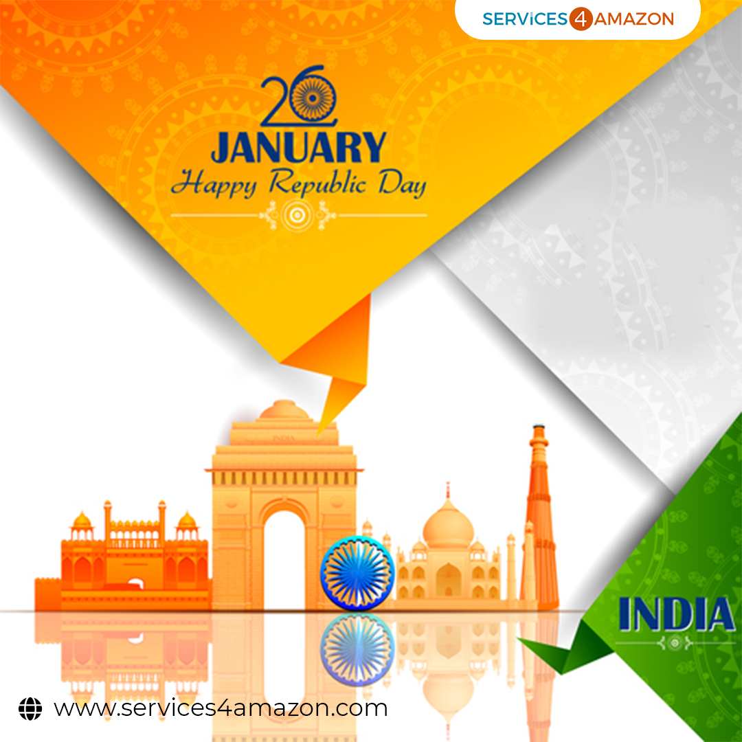 It is the time to show our love toward our nation. Happy Republic Day 2021 to all my friends and people in the association.  ~ Services4Amazon ()  #republicday2021 #HappyRepublicDay #SaluteAndRespect #SaluteOurHeroes #NationalHoliday #republicans